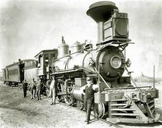 """The first train to arrive in Cheyenne, Wyoming,  AKA """"Hell on Wheels,"""" arrived four months after rail construction started - November 13, 1867."""