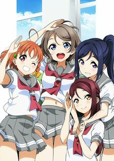 Love Live! Sunshine!! You Watanabe, Riko Sakurauchi, Chika Takami, Kanan Matsuura