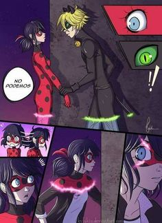 Chat Noir needs to know what is Ladybug's true identity now, but what will she think? Next ~~~~~~~~~~~~ Spanish ver. ~~~~~~~~~~~~ Finally I finish the first page of my mini comic. Ladybug Tikki, Meraculous Ladybug, Tikki Y Plagg, Mlb, Comics Ladybug, Marinette Ladybug, Fanart, Mini Comic, Marinette And Adrien