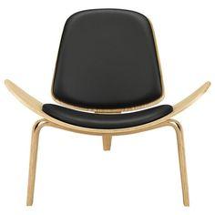 Hans J. Wegner Vinyl Shell Chair