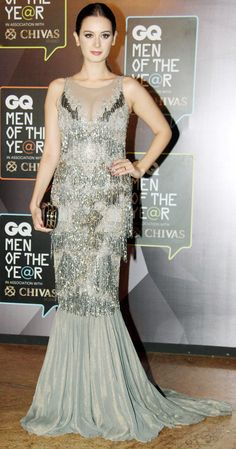 Evelyn Sharma on the GQ Men of the Year Awards 2015 red carpet. #Bollywood #Fashion #Style #Beauty #Hot #GQAwards