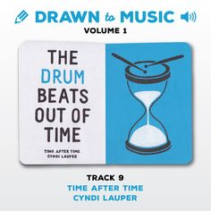 Drawn to Music - Volume 1 : Track 9 - Time After Time by Cyndi Lauper #sketchbookproject2017 #drawntomusic #volume1 #S164511 #halfandhalf #blackwhiteandblue #timeaftertime #cyndilauper