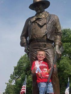 Flat Bob and John Wayne helping us raise awareness of SADS conditions and save young lives!  www.StopSADS.org/flat-bob