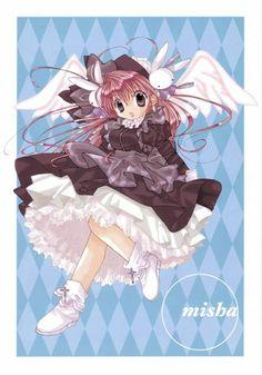 Misha (Pita Ten), reading the manga, cute!