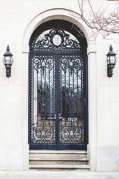 Iron gated door.