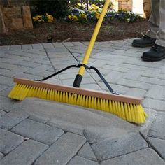 setting stand is simpler than mortar for filling gaps between pavers or slabs. Stone patio, brick path, etc