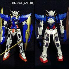 HG Exia GN-001, stronger gundam ever... hehehe #exia #gundam