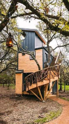 Container Home Designs, Tree House Designs, Tiny House Design, Tiny House Nation, Tiny House Living, House Goals, Little Houses, Tiny Houses, My Dream Home
