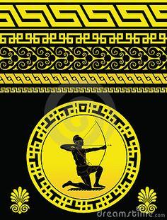 Greek Yellow Pattern by Jaeeho, via Dreamstime