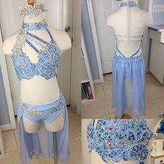 Another beautiful baby blue lyrical for a little star from Dancensations! @aislin06 can't wait for a final fitting! Design by Jennifer Lynch #amparocostumes #customdancecostumes #lyricalcostumes #dancecostumes