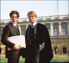 Hugh Grant and some other guy in the movie Maurice
