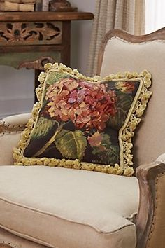 HYDRANGEA AUBUSSON PILLOW from Soft Surroundings