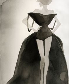 Mats Gustafson--from a Los Angeles Times article several years ago about what the Academy Award Best Actress nominees should wear to the Awards. Dress Design Sketches, Fashion Sketches, Fashion Illustrations, Geometric Fashion, Fashion Graphic, Paper Fashion, Fashion Art, Mats Gustafson, Best Actress
