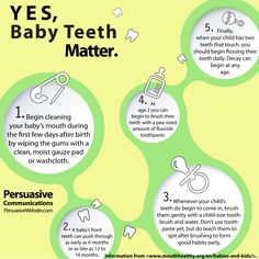 Things you may not have known about infants and teeth! #dental #babies #health