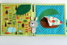 Bunny day children's activity quiet busy book 6 pages от TomToy