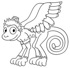 scary monkey coloring pages | Flying Monkey Xing | Monkey