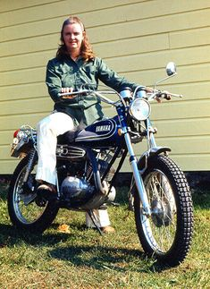 All sizes | 1973-10 Billie on her new 125 cc Yamaha motorcycle, Dobson, NC 003 | Flickr - Photo Sharing!