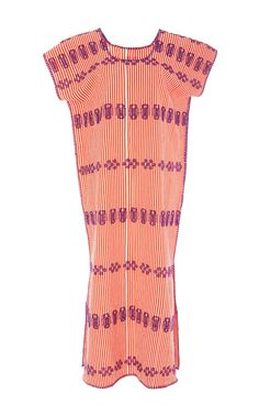 Long Embroidered Stripe Two Panel Kaftan by PIPPA HOLT for Preorder on Moda Operandi