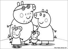 Dibujos de Peppa Pig para colorear en Colorearnet  per pintar