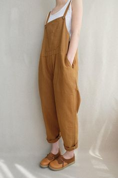 Women Leisure Cotton Jumpsuits Comfortable Dungarees Wide Leg Pants Casual Overalls With Pockets Frauen Leisure Cotton Jumpsuits Vermeme Latzhose Wide Leg Fashion Mode, Fashion Outfits, Womens Fashion, Korean Fashion, Fashion Brands, Fashion Tips, Fashion Websites, Fashion Hair, 80s Fashion
