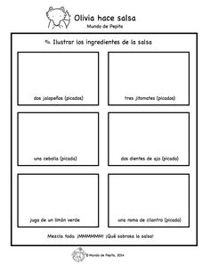 Para trabajar receta de salsa tipo pico de gallo.. download the pdf on our blog! Mundo de Pepita,
