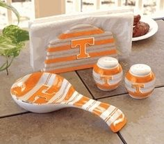 TENNESSEE VOLUNTEERS VOLS Tailgating Trio Dining Set