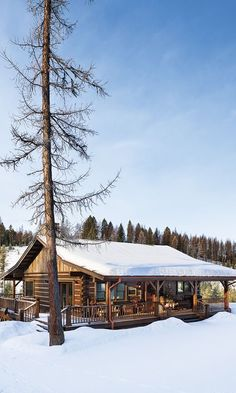 """Bonus photos & floor plans for """"A Boyhood Dream Comes True"""" - Cabin Life Magazine-SR Winter Cabin, Cozy Cabin, Log Cabin Homes, Log Cabins, Hunting Cabin, Little Cabin, Cabins And Cottages, Cabin Plans, Cabins In The Woods"""