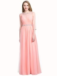 Peach Junior Prom Dresses,Prom Dress for teens with Sleeves,Tulle Prom Dress long - Wishingdress Junior Prom Dresses, Prom Dresses For Teens, Prom Dresses With Sleeves, Tulle Prom Dress, Short Dresses, Dress Long, Formal Dresses, Stunning Prom Dresses, Plus Size Prom