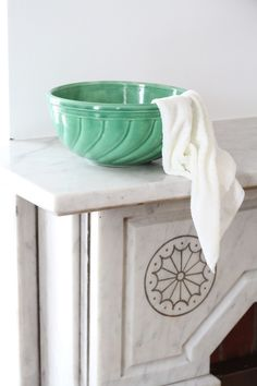 Whether you're working to get stains out of an old, neglected marble mantlepiece, or rust stains out of a newer marble shower, the method remains the same.