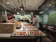 Sub-Zero/Wolf South Central- Prep Kitchen in action!