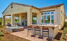 Fiori at Serrano in El Dorado Hills, CA l Plan 1 l Outdoor Living Area