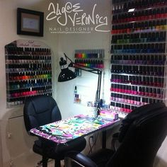 I want to have a nail station like this in my hair salon.