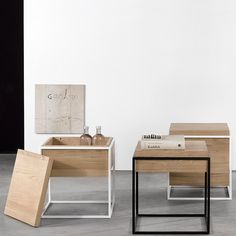 Harmonious Furniture in Wood and Metal by Universo Positivo