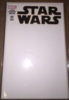 Star Wars 1 Blank Sketch Cover Variant Marvel Comics 2015 movie 1st printing