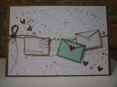 tiny envelopes. splatters.
