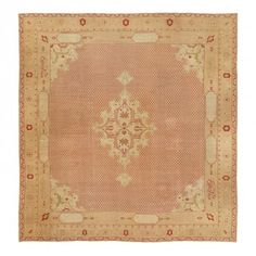 Antique Agra Wool Rug - 12'x12'5""