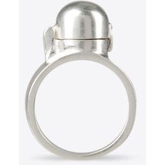 Maison Margiela 11 Ring ($178) ❤ liked on Polyvore featuring jewelry, rings, silver, pearl jewellery, pearl jewelry, maison margiela, white pearl ring and pearl ring
