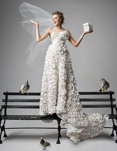 Fia model wedding dress