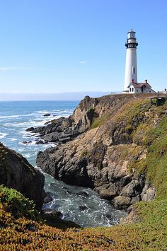 Lighthouse on a beautiful day.