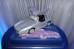 Classic Car Inspired Bar Mitzvah Cake - Mazelmoments.com