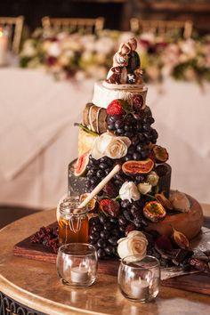 Autumn Cheese Wedding Cake #wedding #cake