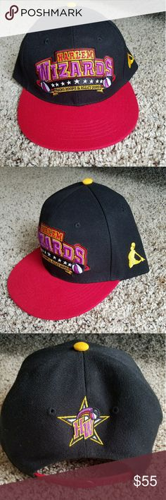"BRAND NEW Harlem Wizards Snapback Cap Adjustable Super slick looking snapback cap!! It is new, super fresh n clean, never worn! ** I will ship it in a box so that it will arrive to you in its original form, not crushed or bent! **  ""Trucks Hoops and Alley Oops!"" #1960s #Basketball #Vintageee Harlem Wizards Accessories Hats"