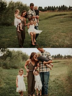 Summer Family Picture Outfits Discover Family Photo Shoot - General color schemes and what to wear Casual Family Photos, Fall Family Photo Outfits, Family Portrait Outfits, Family Photo Colors, Summer Family Pictures, Large Family Photos, Family Portrait Poses, Outdoor Family Photos, Family Picture Poses