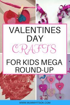 The Best Valentine's Day Crafts For Kids Round-Up valentines crafts for kids, valentines day crafts Valentine's Day Crafts For Kids, Valentine Crafts For Kids, Valentines Diy, Toddler Crafts, Home Crafts, Easy Crafts, Crafts Toddlers, Infant Activities, Craft Activities