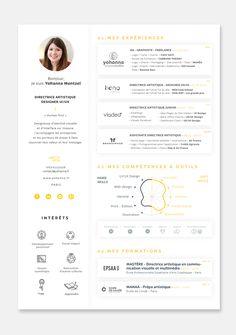 CV Yohanna mentzel 2018 / Graphiste Positive / www. Web Design, Graphic Design Cv, Design Social, Resume Design, Logo Design, Creative Cv Template, Resume Template Free, Creative Resume, Free Resume