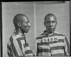 Photograph of Richard Mills, No. 8439, Records of the Virginia Penitentiary, Series II. Prisoner Records, Subseries B. Photographs and Negatives, Box 110, Accession 41558, State Records Collection, Library of Virginia.