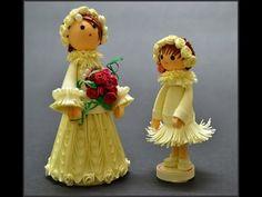 Куклы из бумаги в технике квиллинг. Посмотрите, какие красивые бумажные куклы получаются в технике квиллинг. Кстати — они довольно прочные. Подписывайтесь на...