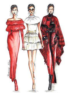 Laura Biagiotti, Bozzetto, moda, Fashion illustration, illustration, fashion sketch, sketch, fashion draw, draw, drawing, watercolor,