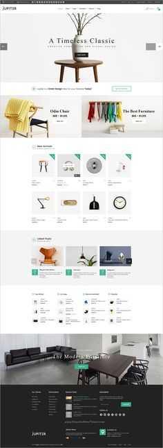 Jupiter is a clean and modern design #PSD template for #decor furniture shop #eCommerce websites with 4 homepage layouts and 11 organized PSD pages download now➩ https://themeforest.net/item/jupiter-furniture-ecommerce-psd-template/19179253?ref=Datasata