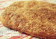 Lagana, Traditional Greek Bread - Easy and yummy, daily homemade recipes! Greek recipes, Quick recipes, Easy sweets and others. Greek Recipes, Quick Recipes, Vegan Recipes, Cooking Recipes, Vegan Food, Yummy Recipes, Greek Bread, Eat Greek, Easy Sweets
